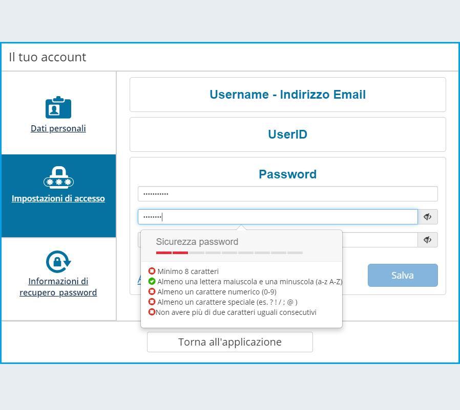 Modifica della password 3