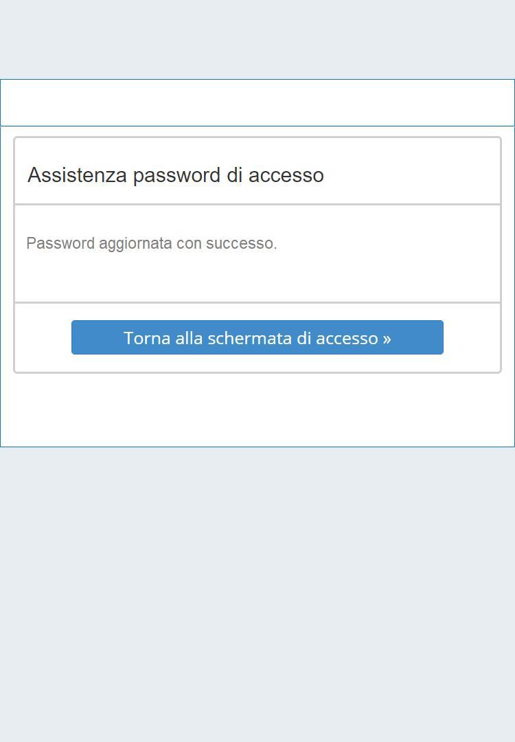 Password aggiornata con successo