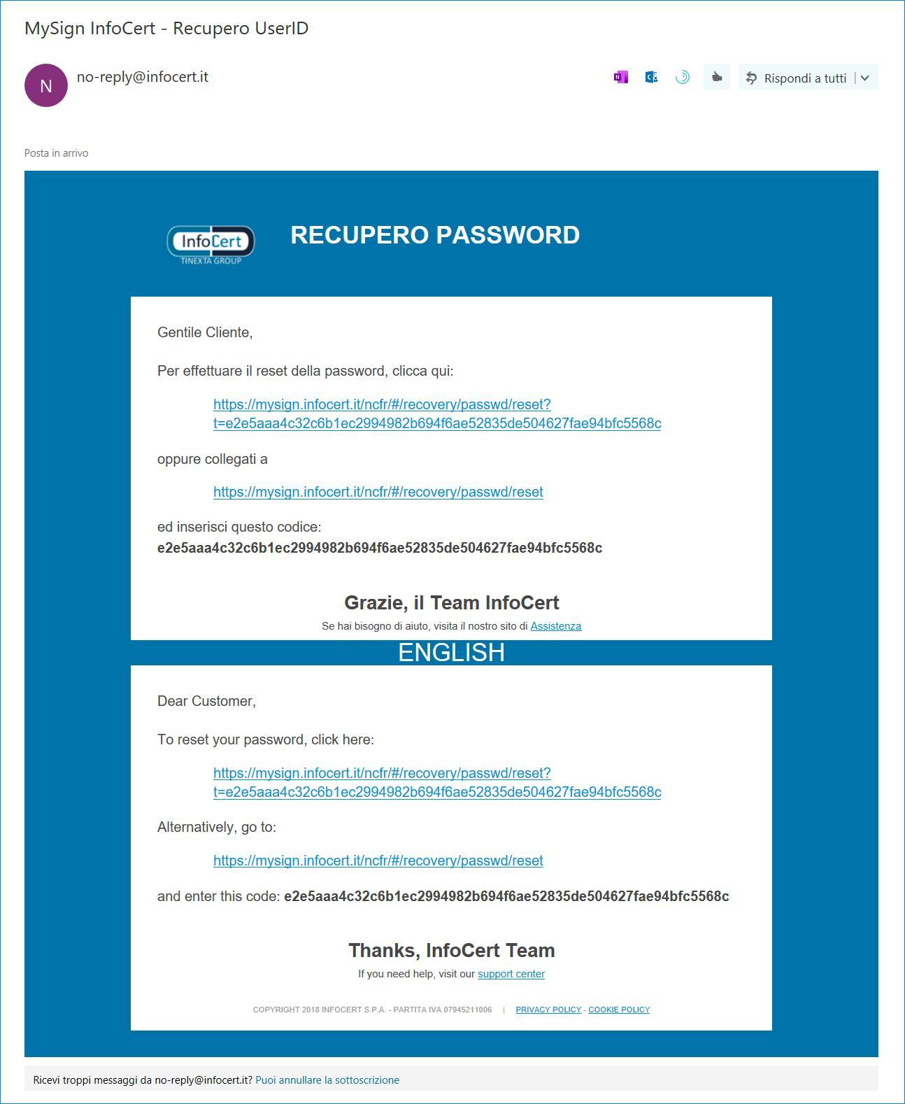 Messaggio email