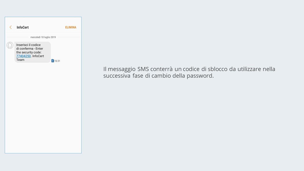 Il messaggio SMS