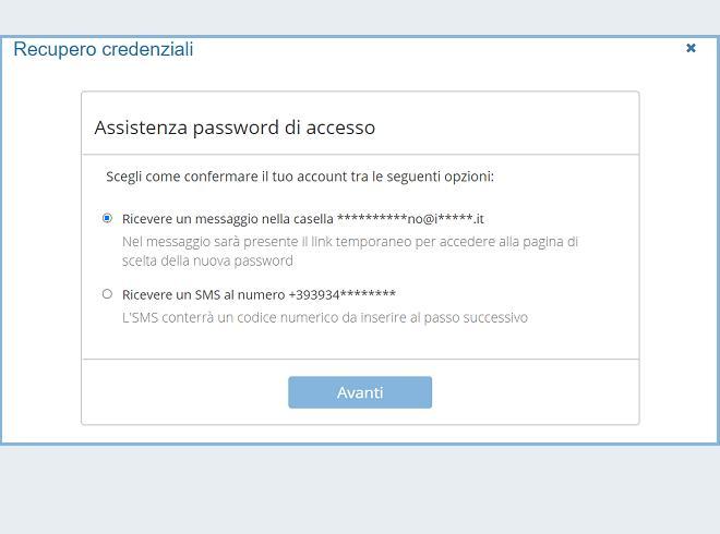 Recupero della password via mail