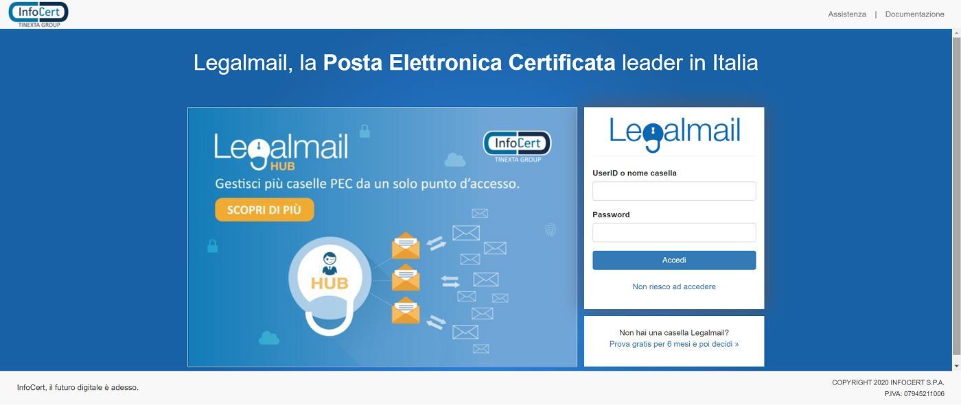 Accesso al portale Webmail