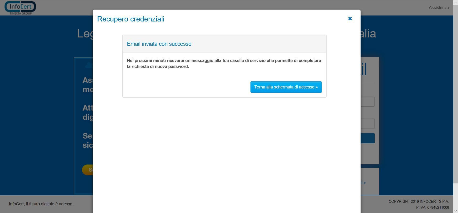 Recupero della password via mail/2