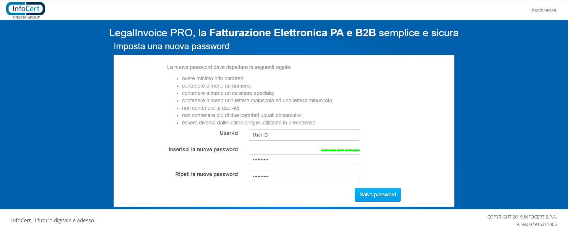 Nuova password